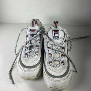 Fila Boys Ray Fashion Sneakers White Lace Up 4